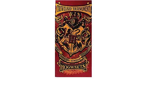 Amazon.com: Monogram Harry Potter Hogwarts Crest Triwizard Tournament, 28x58 Beach Towel: Home & Kitchen