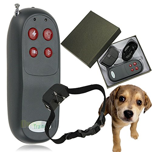 4 In 1 Remote Small/Med Dog Training Shock Vibrate Collar Trainer Safe For Pet by Home Comforts by Bark Collars
