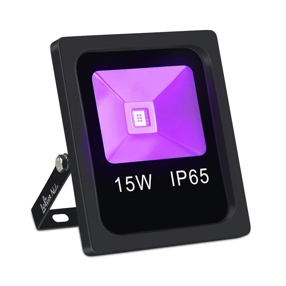 Outdoor Black Light,LaluceNatz 15W Blacklight Flood Light IP65 Waterproof COB UV LED Glow Lights for Party Supplies
