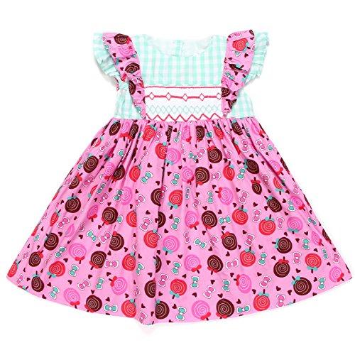 Babeeni Baby Girls Geometric Smocked Dress Lollipop (18M) -