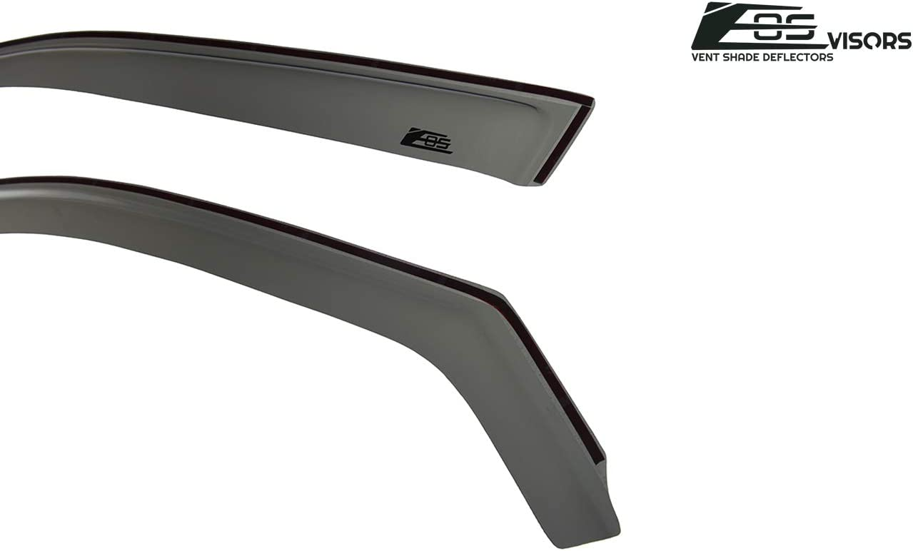 Extreme Online Store EOS Visors for 2011-2019 Dodge Charger in-Channel Style Smoke Tinted Side Vents Rain Guard Window Deflectors