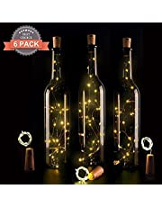 Wine Bottle Lights with Cork,LED Cork Lights for Bottle,Copper Wire Bottle Lights for DIY, Party, Decor, Christmas, Halloween,Wedding