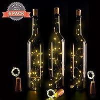 Wine Bottle Lights with Cork,LED Cork Lights for Bottle,Copper Wire Bottle Lights for DIY, Party, Decor, Christmas, Halloween,Wedding