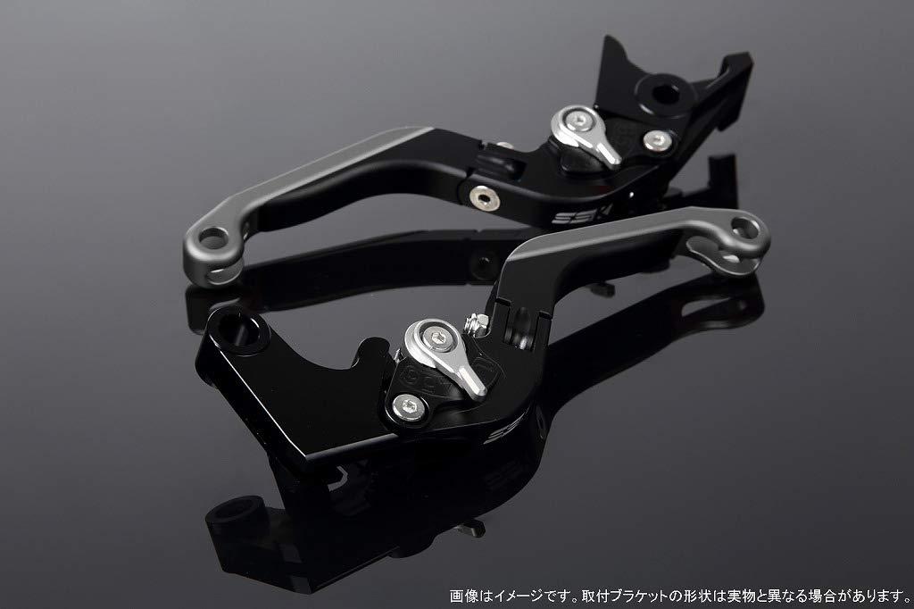 SSK アジャストレバー 可倒延長式 レバー本体カラー:マットブラック アジャスターカラー:マットシルバー エクステンションカラー:マットチタン LVGM035BK-SRTM B07MX9YZ38