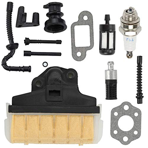 Kaymon 025 MS210 11231601650 Air Filter for Stihl 021 023 MS230 MS250 Chainsaw Intake Manifold Fuel Filter Oil Tube Impluse Line Service Tune Up Kit