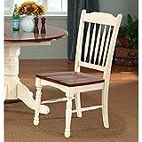 A-America British Isles Slatback Side Chair - 2 Chairs, Merlot-Buttermilk