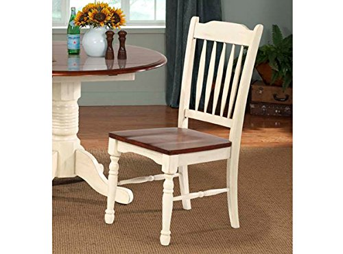 A-America British Isles Slatback Side Chair - 2 Chairs, Merlot-Buttermilk