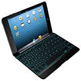 ZAGG Cover Backlit Bluetooth Keyboard for Apple iPad Mini, Black (ZKMHCBKLIT103)