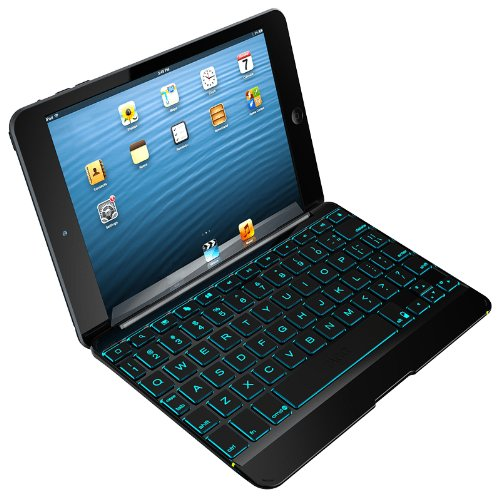 ZAGG Cover with Backlit Bluetooth Keyboard for Apple iPad mini 1 mini 2 - Black