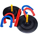 Crown Sporting Goods Deluxe Indoor and Outdoor Horseshoe Game Set