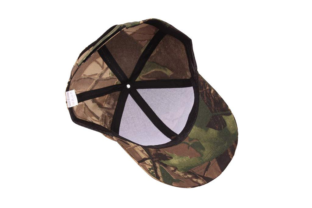 Tanlo 2019 Unisex Women Men Summer Outdoors Camouflage Visor Baseball Cap Adjustable Hat Dad Hats (A, Size:Adjustable) by Tanlo (Image #3)