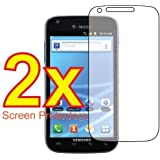 2x Samsung Galaxy S2 T-Mobile SGH-T989 Premium Clear LCD Screen Protector Cover Guard Shield Protective Film Kit (2 Pieces)