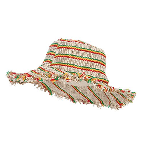 Kathmandu Hemp Hat With Rasta Stripes - Rasta OSFM