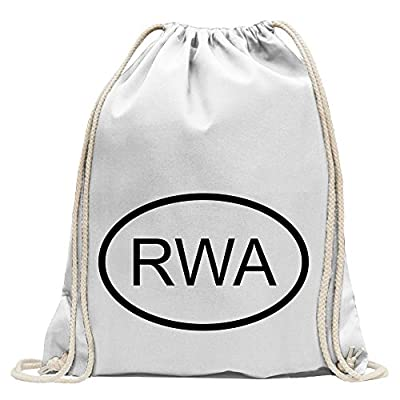 2b16980243 KIWISTAR - Rwanda RWA Fun backpack sports bag fitness Gymbag shopping  cotton with drawstring new