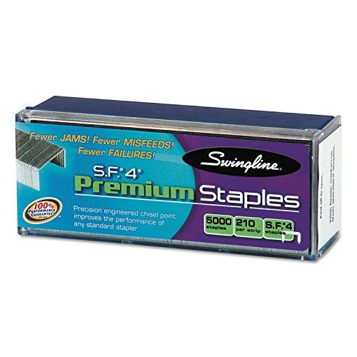 Swingline 35450 S.F. 4 Premium Chisel Point 210 Count Full-Strip Staples 5000/Box (210 Full Strip)