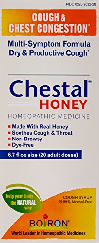 Boiron Chestal Honey Adult Cough Syrup, 6.7 Ounce, Homeopathic Medicine for Cough and Chest Congestion