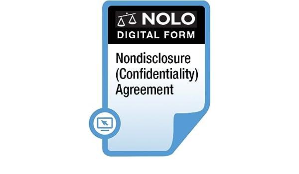Amazon Com Nolo Nondisclosure Confidentiality Agreement