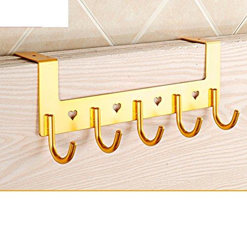 bathroom door hook/Living room suit coat and hat hook/ space linked to the aluminium creative/row hook-D hot sale