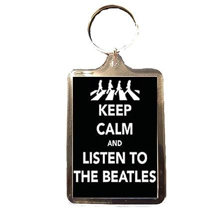 Amazon.com: The Beatles diseño de Keep Calm Llavero: Sports ...