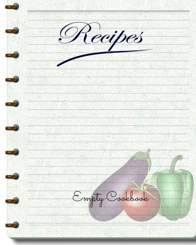 Empty Cookbook Journal Notebook Recipe Keeper Organizer To Write - Writing a cookbook template