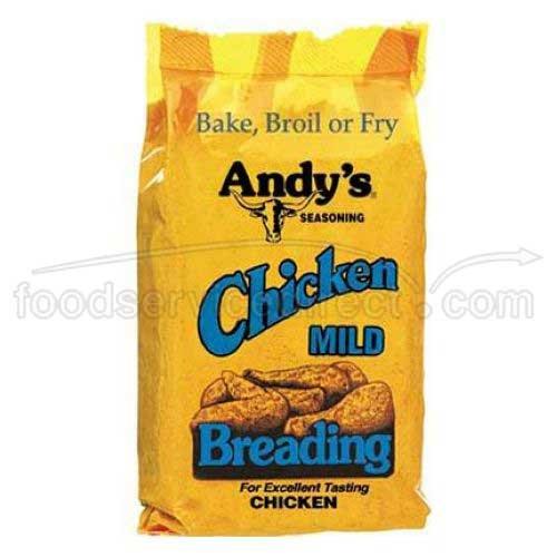 Andys Seasoning Mild Chicken Breading, 10 Ounce - 12 per case.