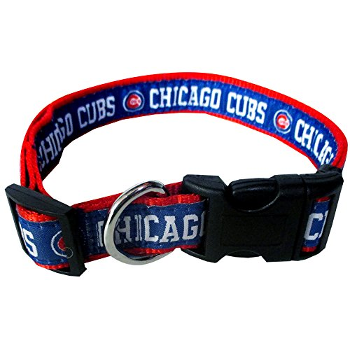 Pets First MLB CHICAGO CUBS Dog Collar, Small (Clip Mlb Cubs)