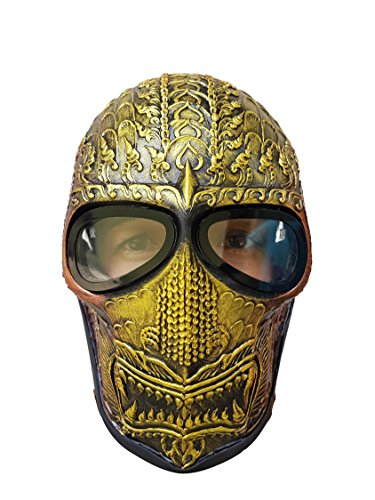 [Ancient Gold Paintball Airsoft Mask Army of two Protective Gear Outdoor Sport Fancy Party Ghost Masks Bb] (Daredevil Costumes Replica)