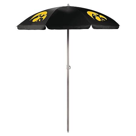 NCAA University of Iowa Hawkeyes Digital Print Umbrella, Black, One Size