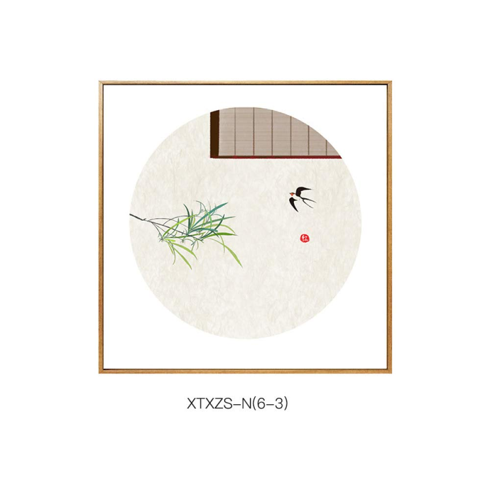 Simple New Chinese-Style Flower and Bird Pattern, Elegant and Warm Home Living Room Bedroom Paintings, Porch Decorative Painting,C,5050 by SED