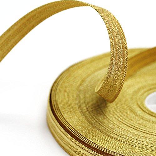 KNOX Yellow Gold Double Stripe Military Bullion Braid Trim: 5 Yards