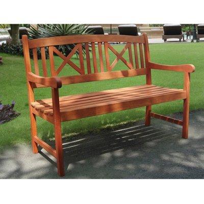 1 Seater Eucalyptus Wood Garden Bench