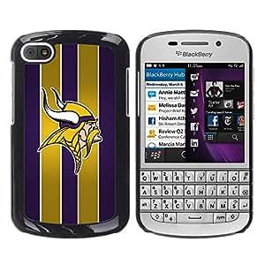 Design for Girls Plastic Cover Case FOR BlackBerry Q10 Vikings Sports Team OBBA