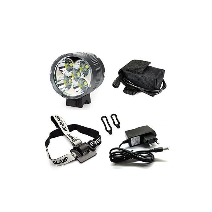 LED Lámpara de bicicleta Faro Luz de las antorchas 6000 lúmenes 5x CREE XM-L T6 LED Lámpara de bicicleta Recargable Camping Luz