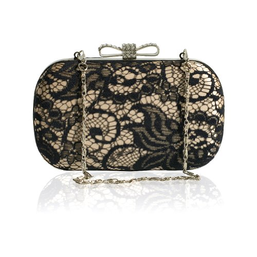 Women For Decorated Bowknot Evening Purse Bag Clutch Party Lace PfpO4nUqp