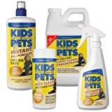 KIDS N PETS 4 Pack: 2X Carpet and Upholstery Concentrate 48 oz., 16 oz Stain and Odor Remover trigger sprayer, 32 oz Stain and Odor Remover refill, 16 oz Deep Clean Carpet Powder-Fresh Citrus, My Pet Supplies