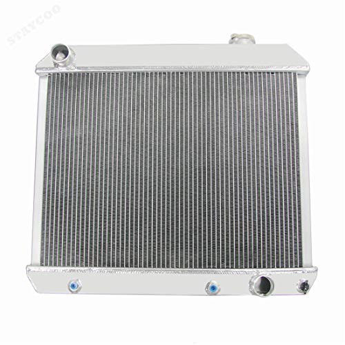 Coolingzone 2 Row Aluminum Radiator for 1961-966 Chevy C10 C20 C30 K10 K20 Pickup Trucks &GM More - Stamped Aluminum Neck Filler