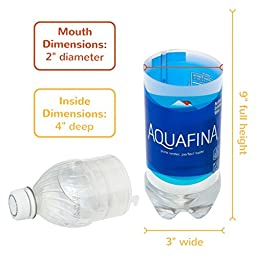 Aquafina Diversion Safe Water Bottle Stash Can w HumanFriendly Smell-Proof Bag