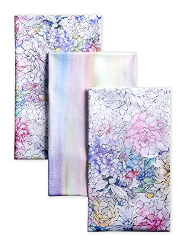 Maison d' Hermine Floral Love 100% Cotton Set of 3 Kitchen Towels 20 Inch by 27.5 Inch.