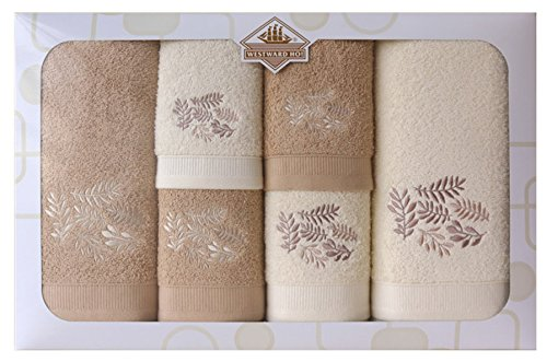 Westward Ho! Autumn Embroidery Box Towel, Cream/Beige by Westward Ho!