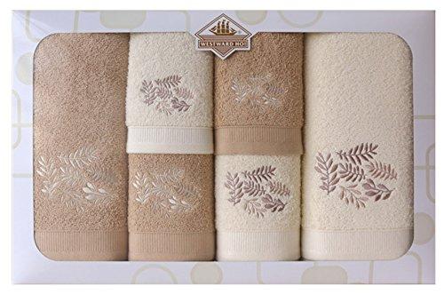 Westward Ho! Autumn Embroidery Box Towel, Cream/Beige