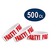 WristCo Red Party 3/4'' Tyvek Wristbands - 500 Pack Paper Wristbands For Events
