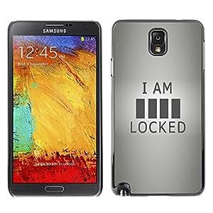 Be Good Phone Accessory // Dura Cáscara cubierta Protectora Caso Carcasa Funda de Protección para Samsung Note 3 N9000 N9002 N9005 // Locked Funny Quote Sign Code Art Life Love