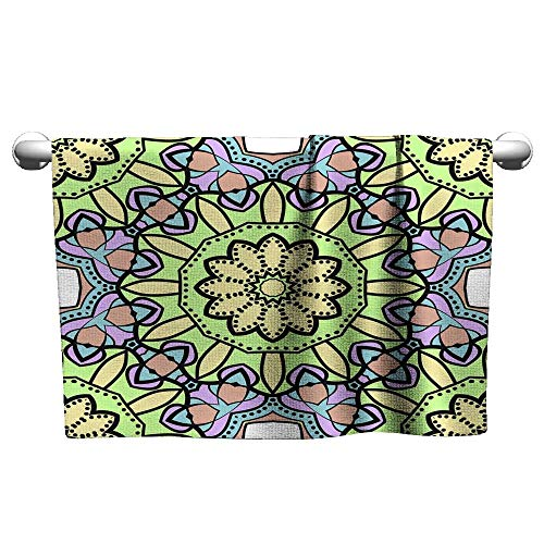 Bath Towel Seamless Art Deco Floral Pattern with Modern Style Ornament on Color Background for Wallpaper Cover Book Fabric scrapbooks 10,Towel for Cleaning