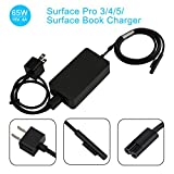 YIPBOWPT 65W Microsoft Surface Book & Surface Pro Charger,65W 15V 4A Power Adapter for Windows Tablet Surface Book 2 & Surface Pro 3 Pro 4 Pro 5 & Surface Laptop with 5V 1A USB Charging Port