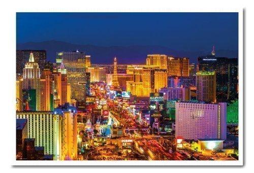 Las Vegas Strip cartel de pizarra de corcho blanco enmarcado ...