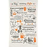 Busy Drinking Coffee Tea Towel by Busy Being