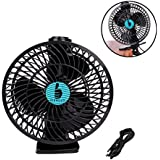 USB Clip Fan 7 Clip on Fan Personal Table Fan with Clip 360 Rotation USB Desk Fan for Men Women Baby in Home Office (Black)