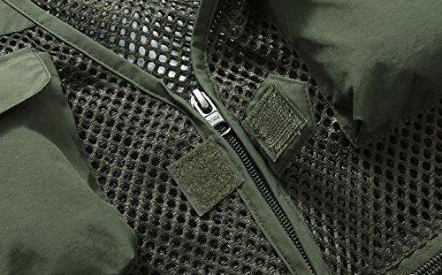 Los Libre Impermeables Múltiples Bolsillos De Chalecos Al Tácticos De Aire Chaquetas Green Hombres wpYAIqYrx
