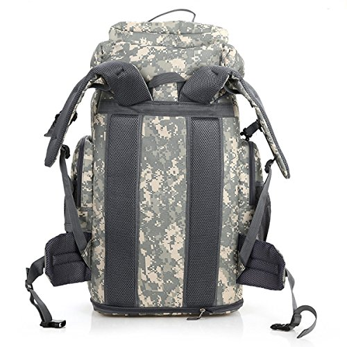 Outdoor Sport Rucksack Bergsteigen Tasche Militär Tarnung Reisen Rucksack,Camouflage-White