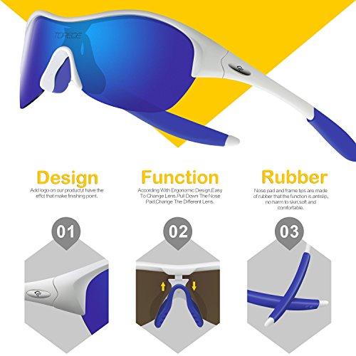 a2393738b52b TOREGE Tr90 Flexible Kids Sports Sunglasses Polarized Glasses for Boys  Girls Age 3-15 Trk001
